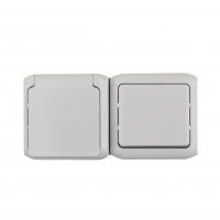 Блоки выключатель+розетка накладного монтажа