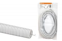 Трубы гофрированные из ПВХ - цвет серый, упаковка для розничных продаж