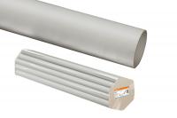 Трубы гладкие жесткие из ПВХ - цвет серый по 3м.