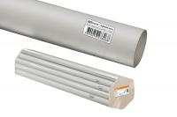 Трубы гладкие жесткие из ПВХ - цвет серый, упаковка для розничных продаж по 2м.