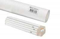 Трубы гладкие жесткие из ПВХ - цвет белый, упаковка для розничных продаж по 2м.