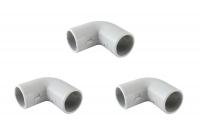Аксессуары для труб из ПВХ - углы 90 соединительные разъемные