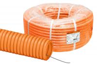 Трубы гофрированные из ПНД оранжевые