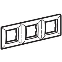 Рамка на 2+2+2 модуля (трехместная), черный металлик, RAL7021