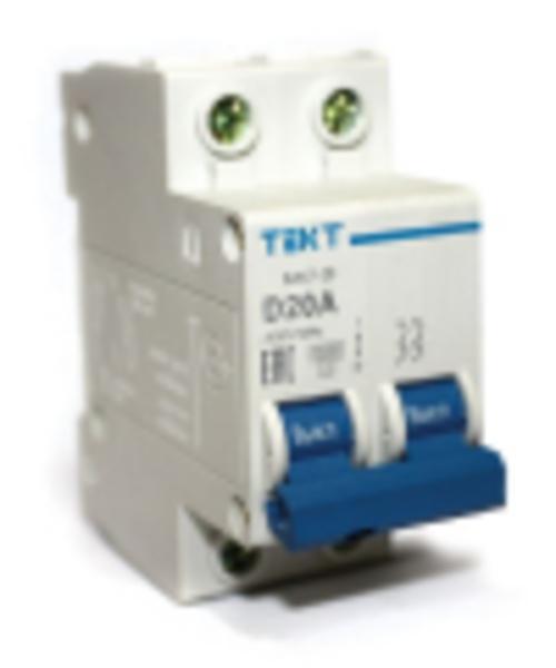 Автоматический выключатель ВА47-29 2P 13A  4,5 kA х-ка B TEKT