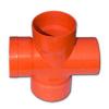 Крестообразное соед. для двустенных труб,90 ,полипропилен,д.200