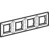 Рамка на 2+2+2+2 модуля (четырехместная), песочная, RAL1002
