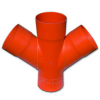 Соединение для четырех двустенных труб,45 ,полипропилен,д.110