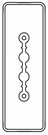 Секция прямая шинопровод 3+0 точек отвода L=3000мм Cu 2P 25A