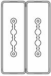 Секция прямая шинопровод 1+1 точек отвода L=3000мм Cu 2P+2P 25A