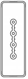 Секция прямая шинопровод 2+0 точек отвода L=3000мм Cu 4P 25A