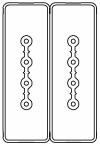 Секция прямая шинопровод 2+2 точек отвода L=3000мм Cu 4P+4P 25A