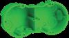 Коробка КМ40023 установочная 2 места d141х70x45 для полых стен (с саморезами и мет. лапка)