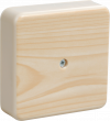 Коробка КМ41212-03 распаячная для о/п 75х75х20 мм светлое дерево (6 клемм 6мм2)