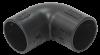 Поворот открывающийся на 90гр. CI32G IEK черный (5 шт/комп)