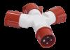 Адаптер трехлучевой TS1013-214 3Р+РЕ 16А 380В IP44 ИЭК