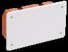 Коробка КМ41026 распаячная 172х96x45мм для полых стен (с саморезами, пластиковые лапки, с крышкой )