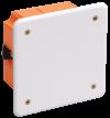Коробка КМ41022 распаячная 92х92x45мм для полых стен (с саморезами, пластиковые лапки, с крышкой )