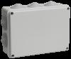 Коробка КМ41244 распаячная для о/п 190х140х70 мм IP55 (RAL7035, 10 гермовводов)
