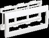 """Рамка и суппорт для К.К. """"Праймер"""" на 6 модулей, 75 мм белый IEK"""
