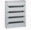 Распределительный шкаф с металлическим корпусом XL³ 160 - для модульного оборудования - 4 рейки - 750x575x147