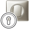 Лицевая панель - Программа Celiane - выключатель с ключом трехпозиционный с самовозвратом Кат. № 0 670 39 - титан
