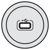 Лицевая панель Celiane - для розетки USB - титан