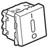 Выключатель двухполюсный - Программа Mosaic - 2 модуля - 20 AX - со светодиодной подсветкой - белый