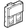 Лицевая панель для информационных розеток - Программа Mosaic - для 2-го коннектора формата Systimax - 2 модуля - белый
