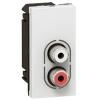 Аудио розетка - Программа Mosaic - разъем 2 RCA, аудио стерео - 1 модуль - белая