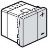 Светорегулятор - Программа Mosaic - 2 модуля - без нейтрали - 2-проводной - 400 Вт - алюминий
