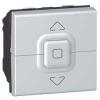 Выключатель для управления приводами - Программа Mosaic - 2 модуля - алюминий