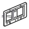 Суппорт с подсветкой - Программа Batibox - Для Программы Mosaic - 2 -местный - 4 модуля - горизонтальный монтаж