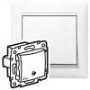 Выключатель без фиксации с символом звонка - Valena - IP 44 - 10 AX - 250 В~ - белый