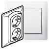 Двойная розетка - Galea Life - 2х2К+3 - винтовые клеммы - в сборе - white