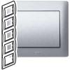 Рамка - Galea Life - 5 постов - вертикальный монтаж - Aluminium