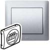 Лицевая панель - Galea Life - для двойной розетки для колонки - Кат. № 7 757 84 - Aluminium
