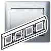 Рамка - Galea Life - 4 поста - горизонтальный монтаж - металлическая - Brushed Aluminium