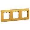 Рамка - Cariva - 3 поста - горизонтальный/вертикальный монтаж - матовое золото