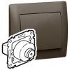 Двухполюсный выключатель + выключатель без фиксации - Galea Life - с ключом - 10 А - 250 В~ - Dark bronze