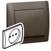 Лицевая панель - Galea Life - с защитной шторкой - для розетки 2К - Dark Bronze