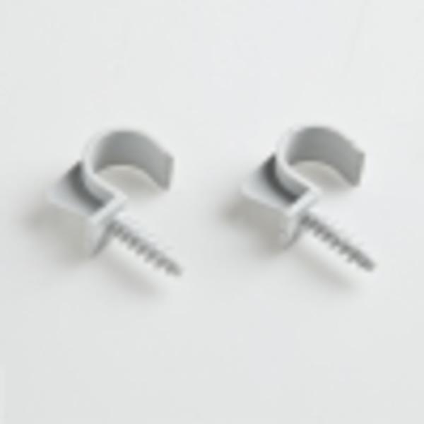 Крепеж-клипса универсальная для трубы 20мм (пластм.)