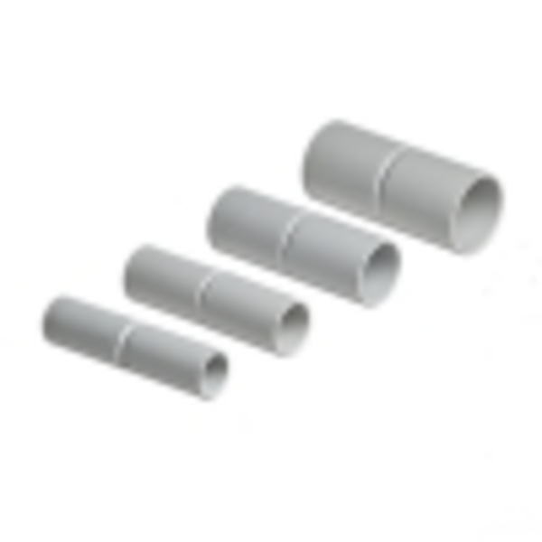 Муфта соедин. для трубы 40мм (пластм.)