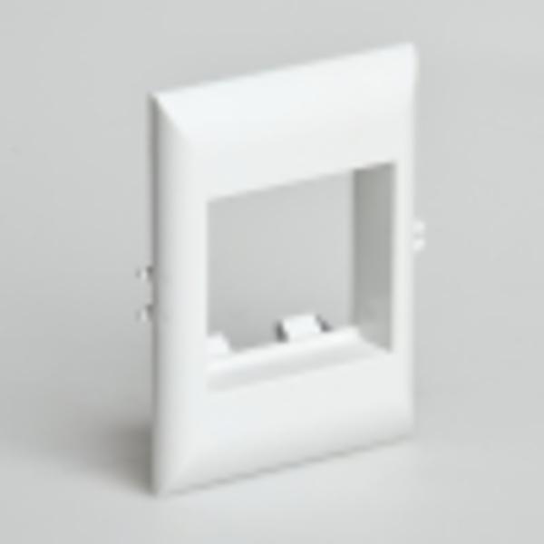 Рамка для встраиваемого оборудования 45х50х15 мм для РКК-100х60 и 100х40 (белый)