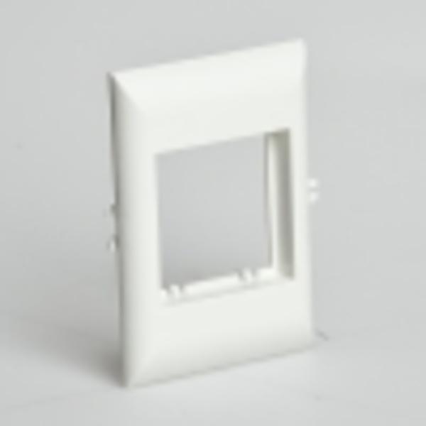 Рамка для встраиваемого оборудования 45х45х9 мм для РКК-100х60 и 100х40 (белый)