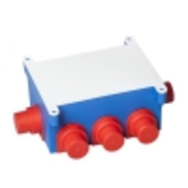 Тусо.Коробка расп. 118х76мм,Н=60мм для заливки в бетон (с крышкой)