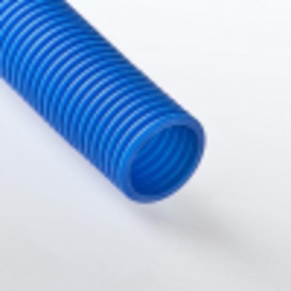 Труба гофрированная 63мм ПНД (синяя) для МПТ