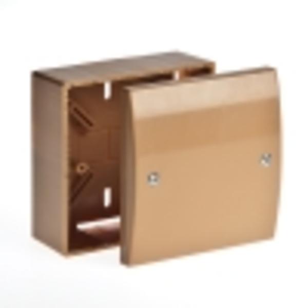 Тусо.Коробка универсальная. для кабель-каналов 100х100х55мм(коричневая)