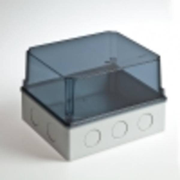 Тусо.Коробка расп. для о/п и монтажа приборов, 247х199х165мм(проз.кр)